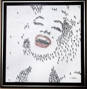 """Marilyn-Laughing, Medium: Mixed Media on Canvas Canvas Size: 36"""" x 36"""" Framed Size: 42.5"""" x 42.5"""" Artist: Craig Alan #18437 Price: $9,500.00 REDUCED: $5,000.00"""