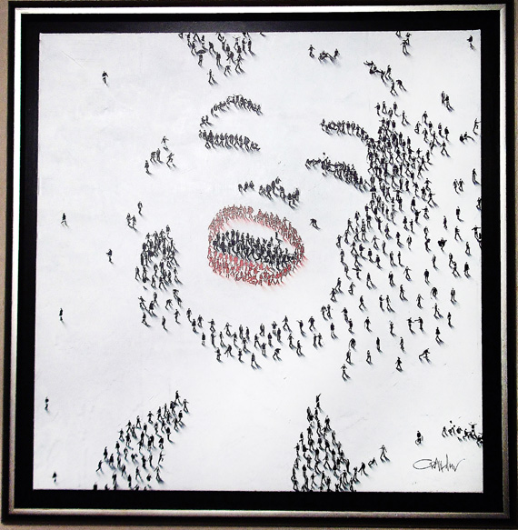 "Marilyn-Laughing, Medium: Mixed Media on Canvas Canvas Size: 36"" x 36"" Framed Size: 42.5"" x 42.5"" Artist: Craig Alan #18437 Price: $9,500.00 REDUCED: $5,000.00"