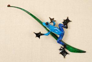 "Blue Bayou, Medium: Bronze Catalog: BF106 Size: 8.5"" x 17"" x 4"" Artist: Frogman"