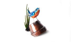 "Bluebird, Medium: Bronze Catalog: BF151 Size: 5"" x 3.75"" x 7"" Artist: Frogman"