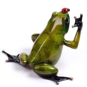 "Bugsy, Medium: Bronze Catalog: BF119 Size: 2.5"" x 4"" x 3.25"" Artist: Frogman"
