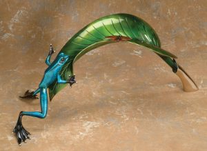 "Over the Top, Medium: Bronze Catalog: BF68 Size: 13"" x 27.5"" x 1.25"" Artist: Frogman"