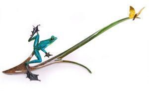"Papillon, Medium: Bronze Catalog: BF131 Size: 14"" x 27"" x 16"" Artist: Frogman"