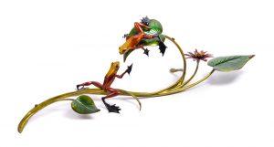 "Rendezvous, Medium: Bronze Catalog: BF110 Size: 10.75"" x 37"" x 12"" Artist: Frogman"