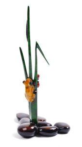 "Sprout, Medium: Bronze Catalog: BF118 Size: 8.5"" x 5.25"" x 3.25"" Artist: Frogman"