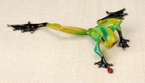 "Tag, Medium: Bronze Catalog: BF102 Size: 1"" x 8"" x 6.5"" Artist: Frogman"