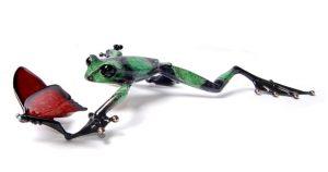 "Taking Flight, Medium: Bronze Release: 2011 Edition: 1000 AP/100 Catalog: BF153 Size: 13.25"" x 7"" x 2"" Artist: Frogman"