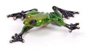 "Twister, Medium: Bronze Catalog: BF128 Size: 1"" x 4"" x 3.5"" Artist: Frogman"