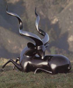 "Greater Kudu, Medium: Bronze Size: 24"" x 16"" x 27""Artist: Loet Vanderveen Price: $11,700.00 REDUCED: $5,850.00"