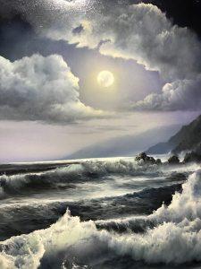 "Moonlight 20"" x 24"" Original Oil on Canvas"