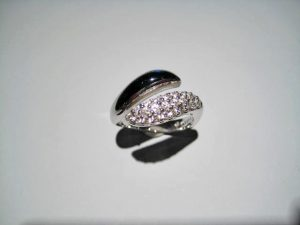 14K White Gold Black Onyx and Diamond Ring Artist: Kabana Stavros Catalog: 800-50-1 #20304 Price: $2,500.00 REDUCED: $1,200.00