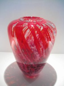 Ruby and Clear Vase Artist: Randy Strong Catalog: 137-86-5