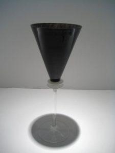 Black and White Wine Goblet Artist: Union Street Catalog: 603-36-8