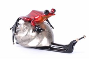 "EsCargo, Medium: Bronze, Artist: Frogman, Size: 6""L x 3.25""W x 3""H, Edition Size 350"